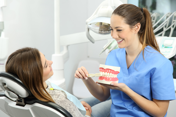 Intra-oral dental assistants help clients take good care of their teeth