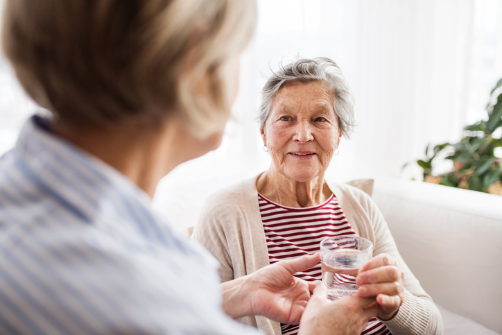 PSWs can help senior clients stay hydrated by ensuring they have access to water